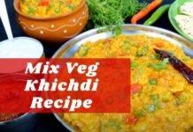 mix veg khichdi recipe