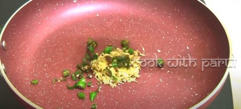 grated ginger, garlic and chopped chilli for poha recipe