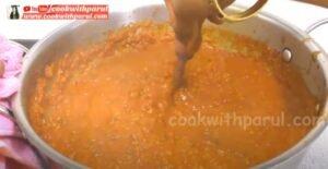 cooking bhaji in the pan for pav bhaji recipe